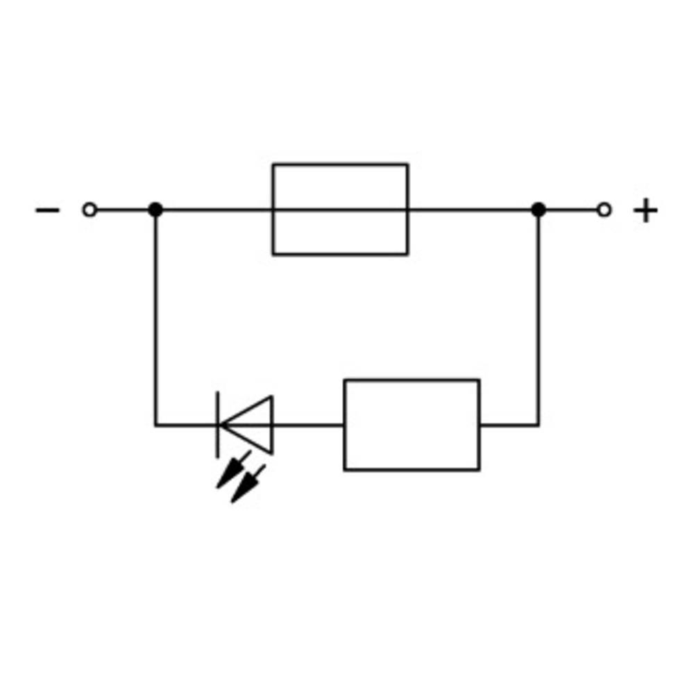 Sikringsklemme 7.50 mm Trækfjeder Grå WAGO 2006-1681/1000-414 25 stk