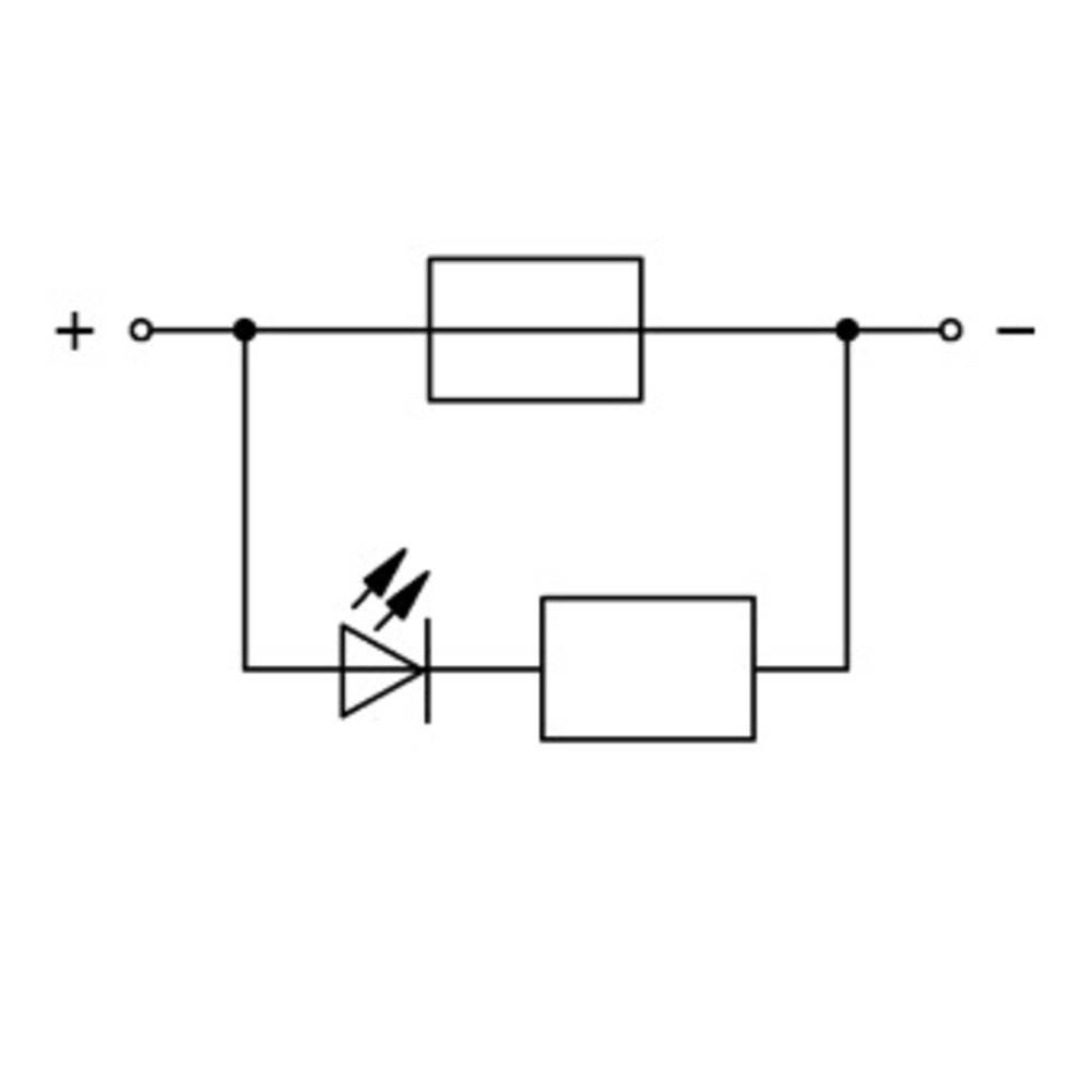 Sikringsklemme 7.50 mm Trækfjeder Grå WAGO 2006-1681/1000-435 25 stk