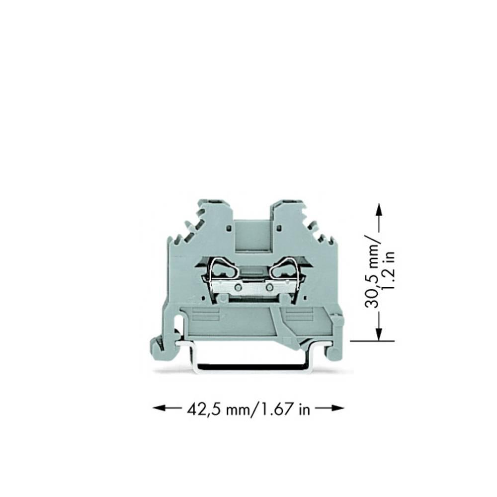 Gennemgangsklemme 4 mm Trækfjeder Belægning: L Grå WAGO 279-101 100 stk