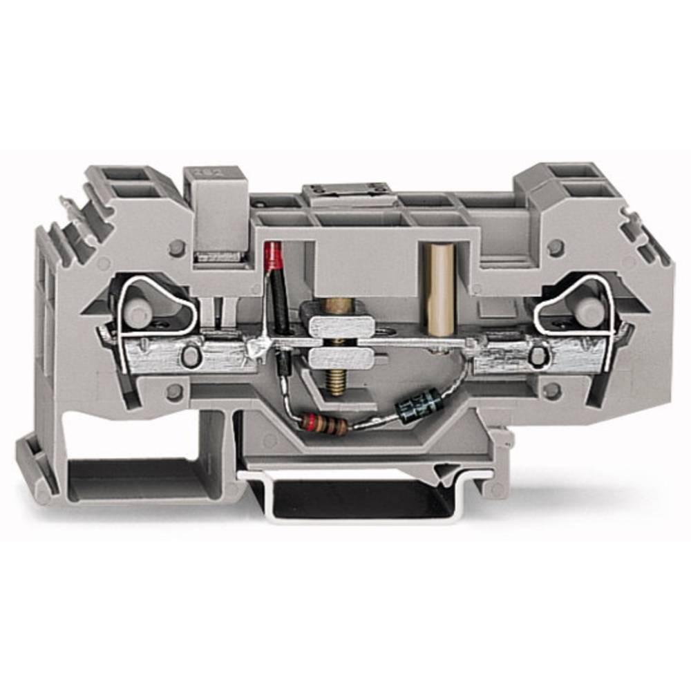 Skilleklemme 16 mm Trækfjeder Belægning: L Grå WAGO 282-141 12 stk