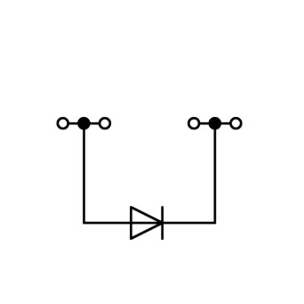 Diodeklemme 6.20 mm Trækfjeder Belægning: L Grå WAGO 2004-1411/1000-400 50 stk
