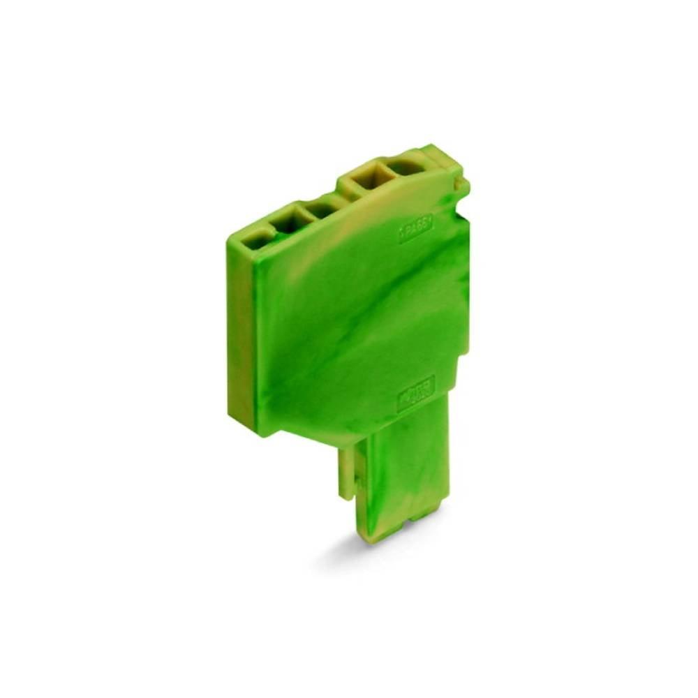Enkelt klemme 3.50 mm Trækfjeder Belægning: Terre Grøn-gul WAGO 2020-267 250 stk