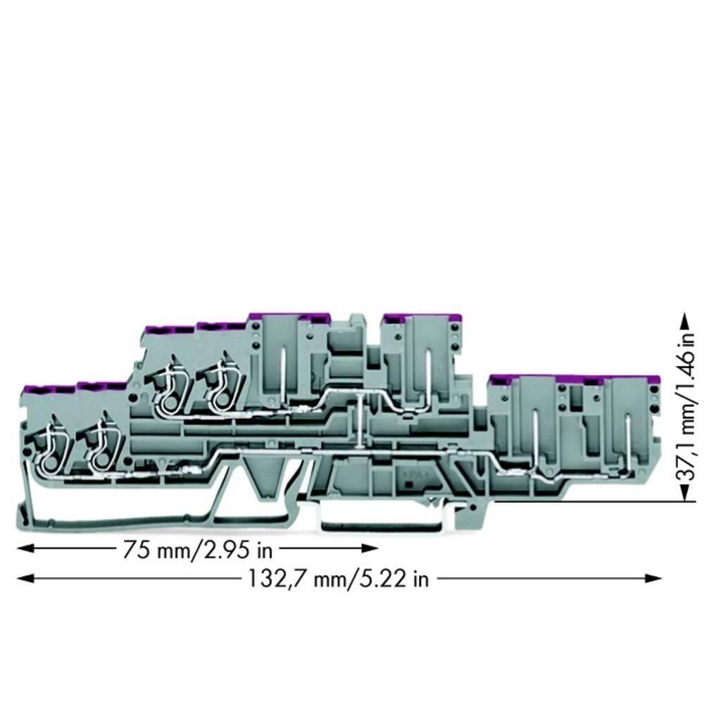 Dobbeltlags-gennemgangsklemme 5 mm Trækfjeder Belægning: L Grå WAGO 870-138 40 stk