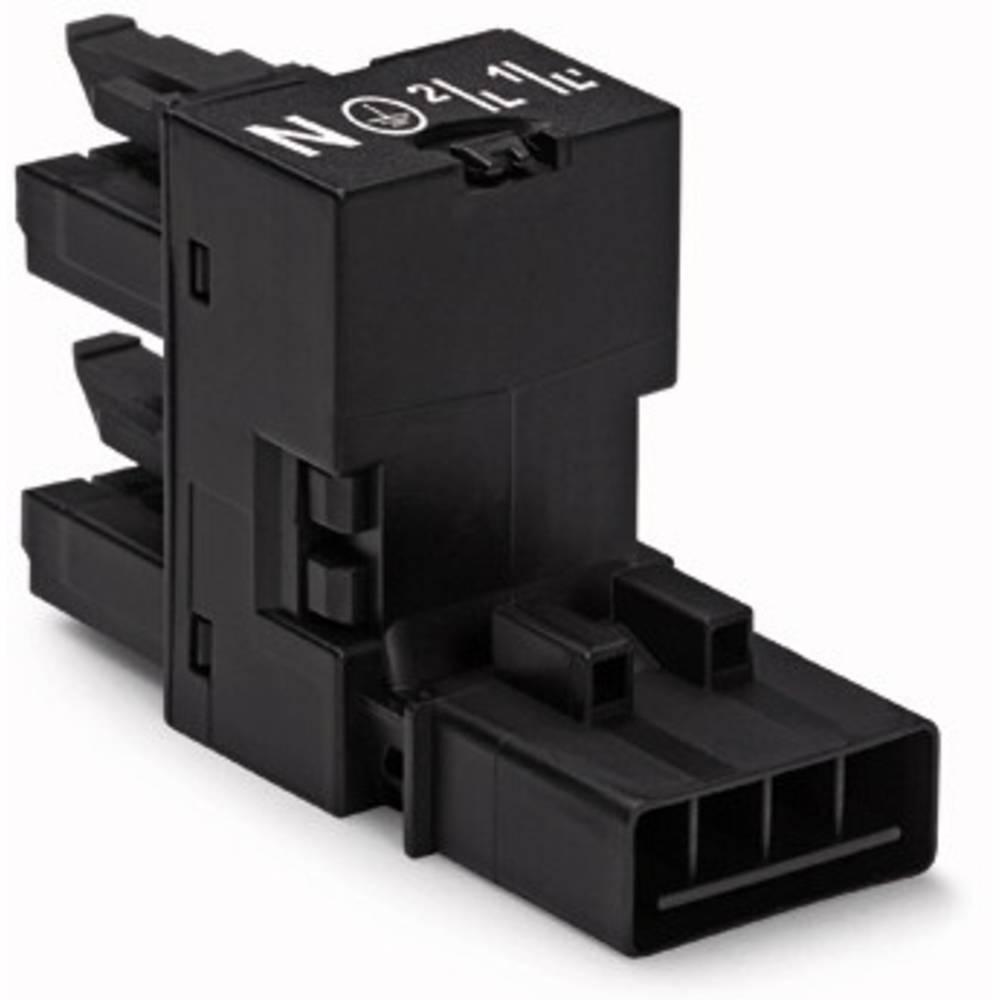 H-strømforsyningsfordeler WAGO Samlet poltal 4 Sort 50 stk