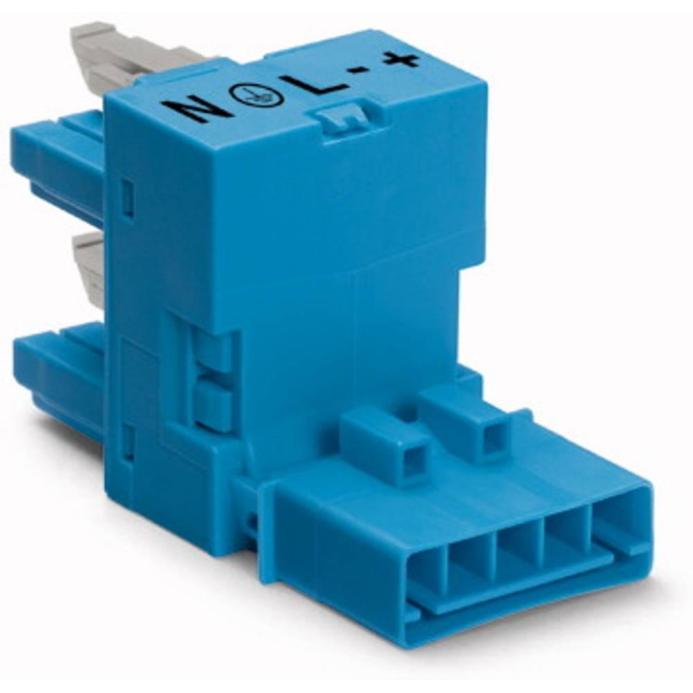 H-strømforsyningsfordeler WAGO Samlet poltal 5 Blå 50 stk