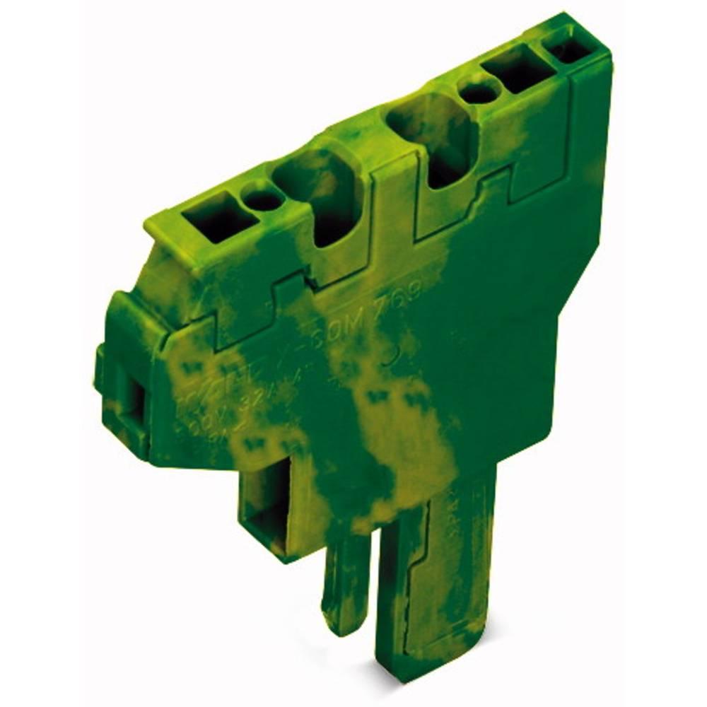 Enkelt klemme 5 mm Trækfjeder Belægning: Terre Grøn-gul WAGO 769-504/000-016 250 stk