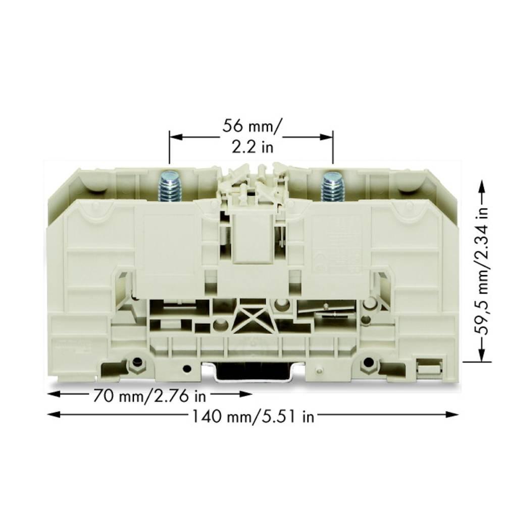 Højstrømsklemme 32 mm Bolttilslutning Grå WAGO 400-490/490-002 10 stk