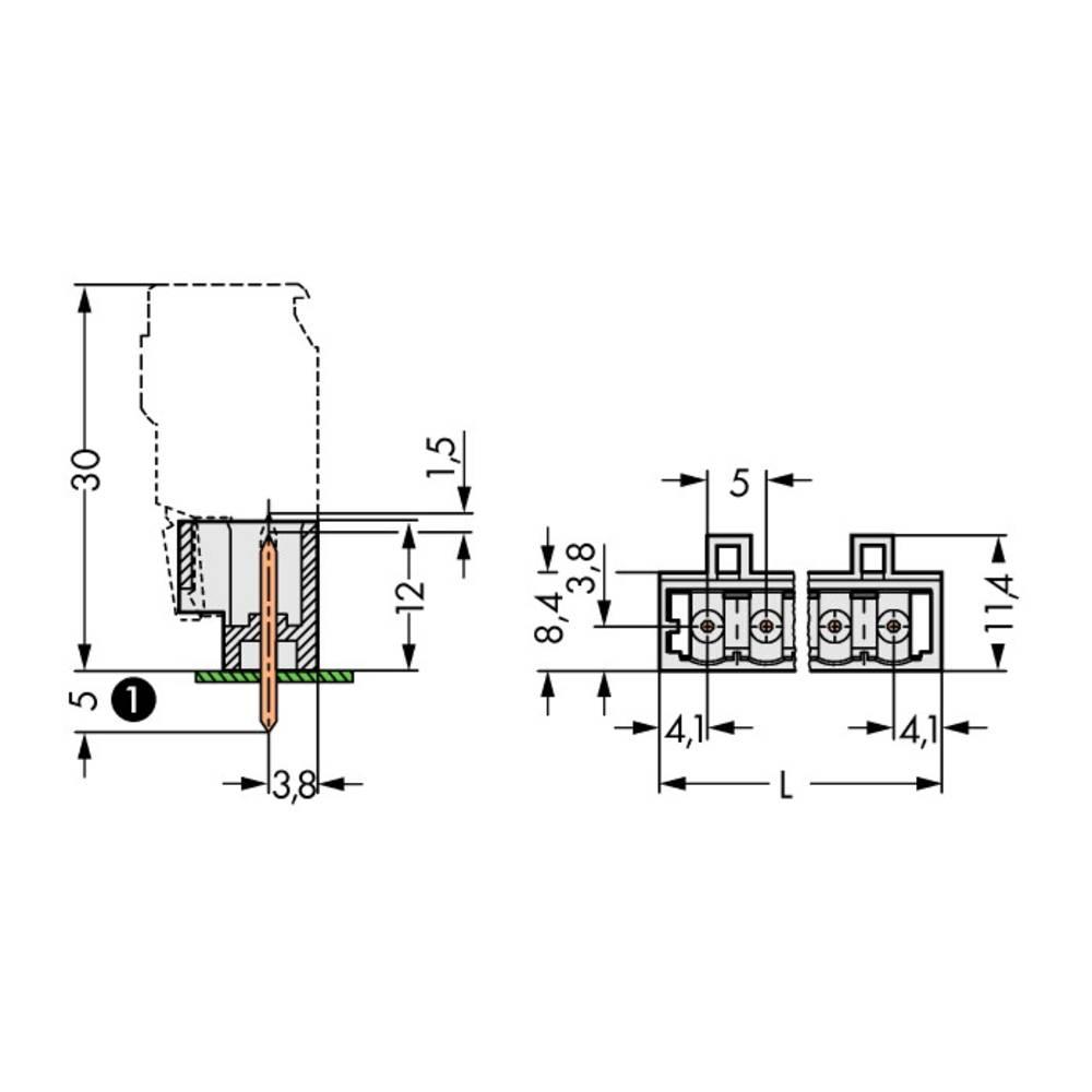 Pinski konektor (Standard) 1735 št. polov skupaj 3 WAGO 721-133/001-000 mere: 5 mm 200 kosov
