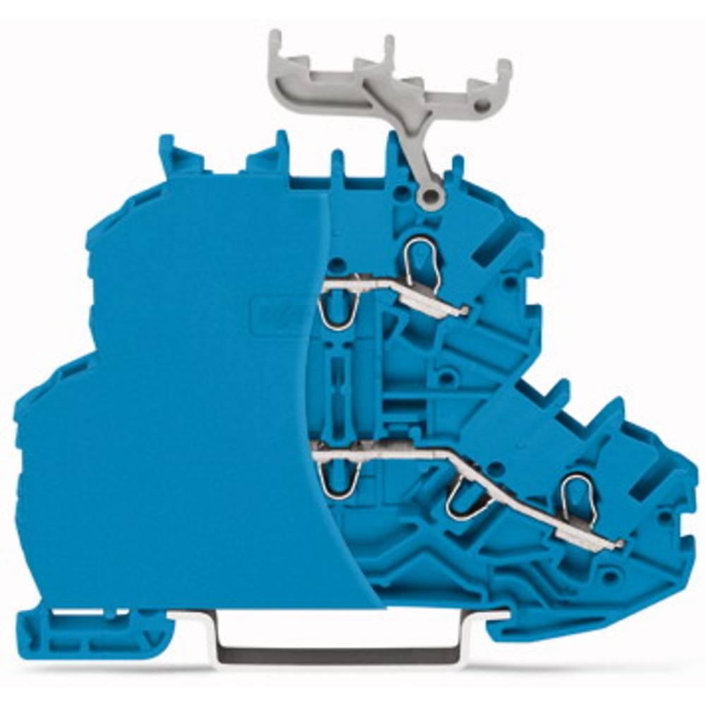 Dobbeltlags-gennemgangsklemme 4.20 mm Trækfjeder Belægning: N, N Blå WAGO 2000-2204/099-000 50 stk