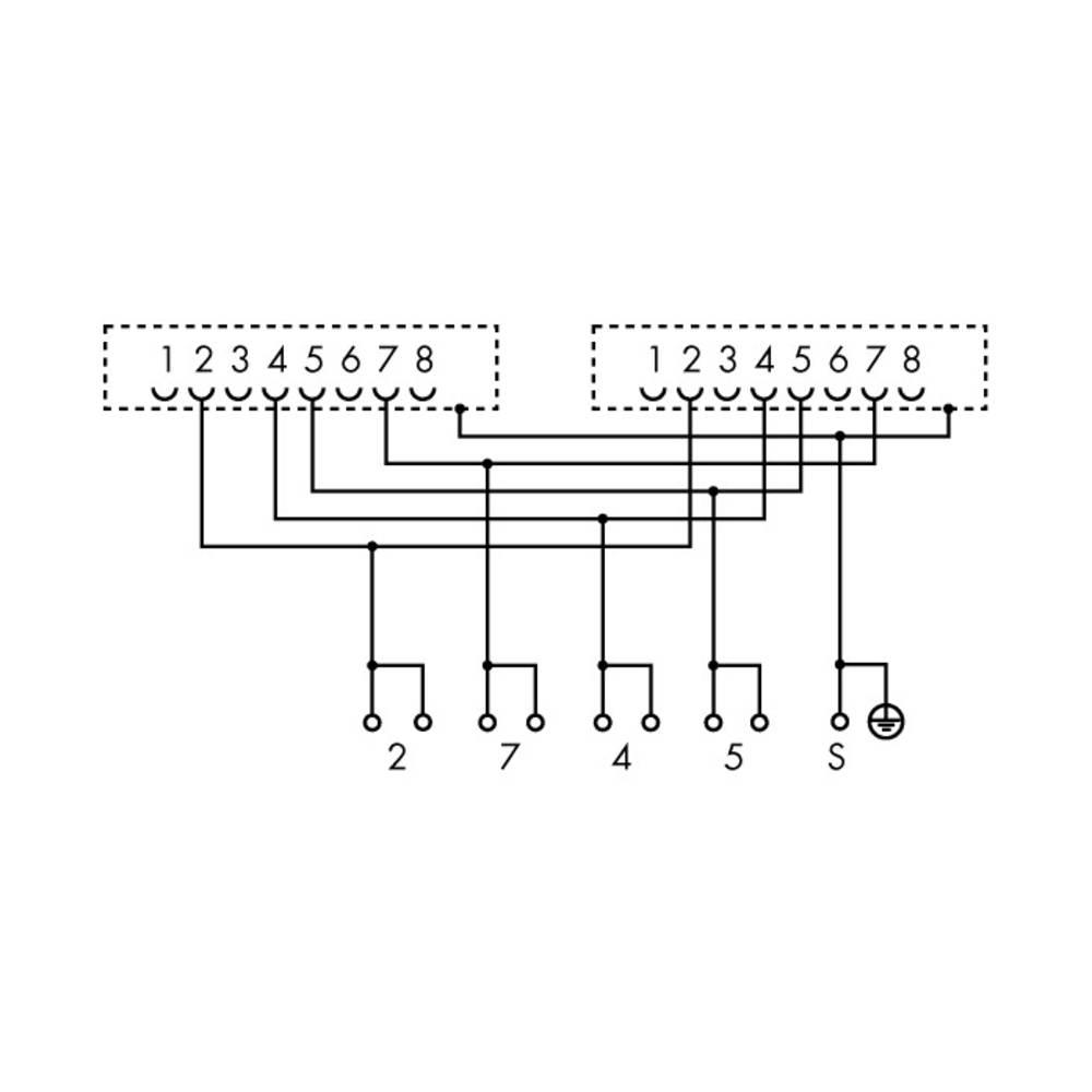 Prenosni modul s RJ-45-priključek in vpenjalni nastavek za oklop 289-966 WAGO vsebina: 5 kos