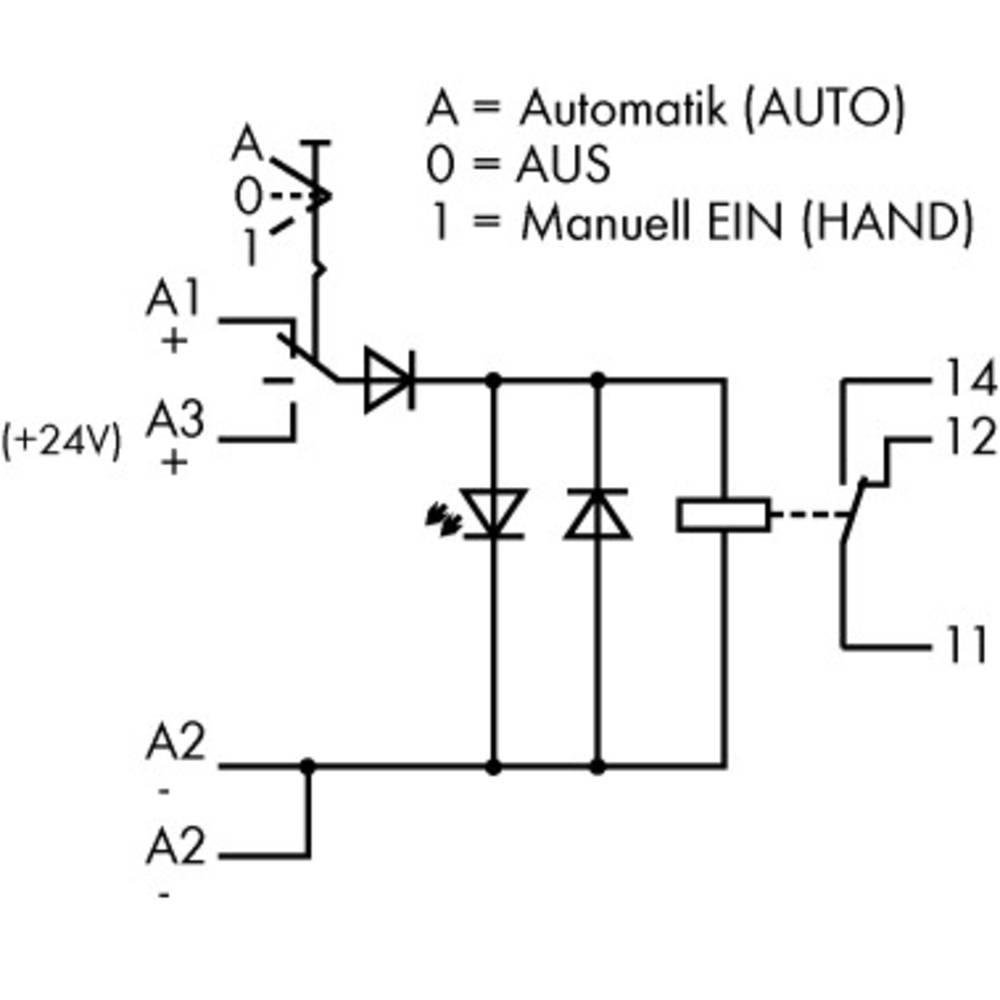 Industrirelæ 10 stk WAGO 789-326 Nominel spænding: 24 V/DC Brydestrøm (max.): 12 A 1 x skiftekontakt