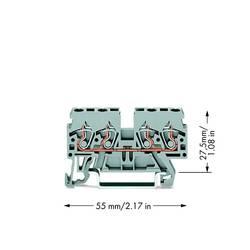 Gennemgangsklemme 5 mm Trækfjeder Belægning: L Grå WAGO 870-831 100 stk