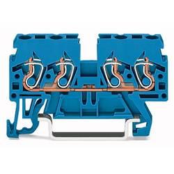 Gennemgangsklemme 5 mm Trækfjeder Belægning: N Blå WAGO 870-834 100 stk