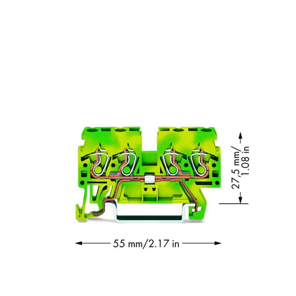 Jordklemme 5 mm Trækfjeder Belægning: Terre Grøn-gul WAGO 870-837 100 stk