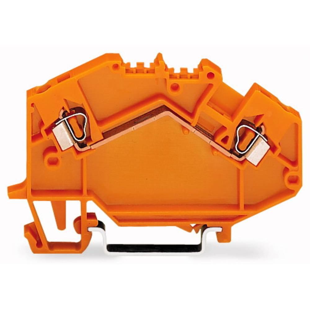 Gennemgangsklemme 5 mm Trækfjeder Orange WAGO 780-602 50 stk