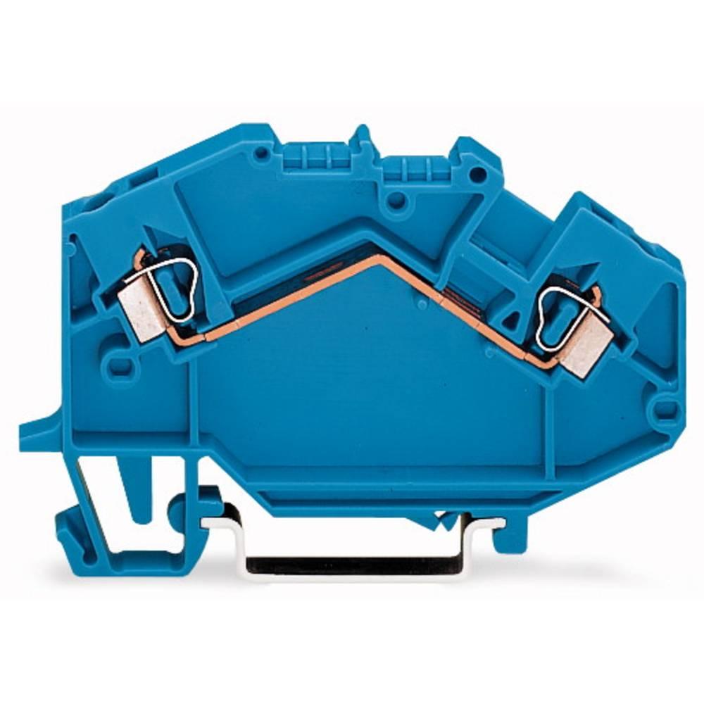 Gennemgangsklemme 5 mm Trækfjeder Belægning: N Blå WAGO 780-604 50 stk