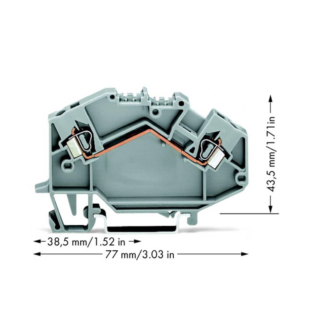 Gennemgangsklemme 5 mm Trækfjeder Belægning: L Grå WAGO 780-601 50 stk