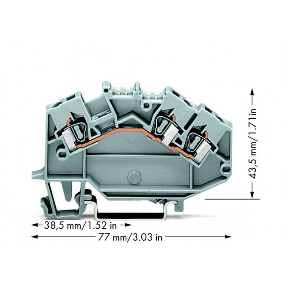 Gennemgangsklemme 5 mm Trækfjeder Belægning: L Grå WAGO 780-631 50 stk