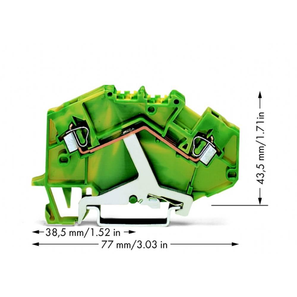 Jordklemme 5 mm Trækfjeder Belægning: Terre Grøn-gul WAGO 780-607 50 stk