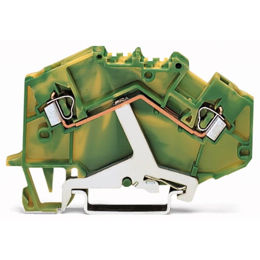 Jordklemme 5 mm Trækfjeder Belægning: Terre Grøn-gul WAGO 780-607/999-950 50 stk