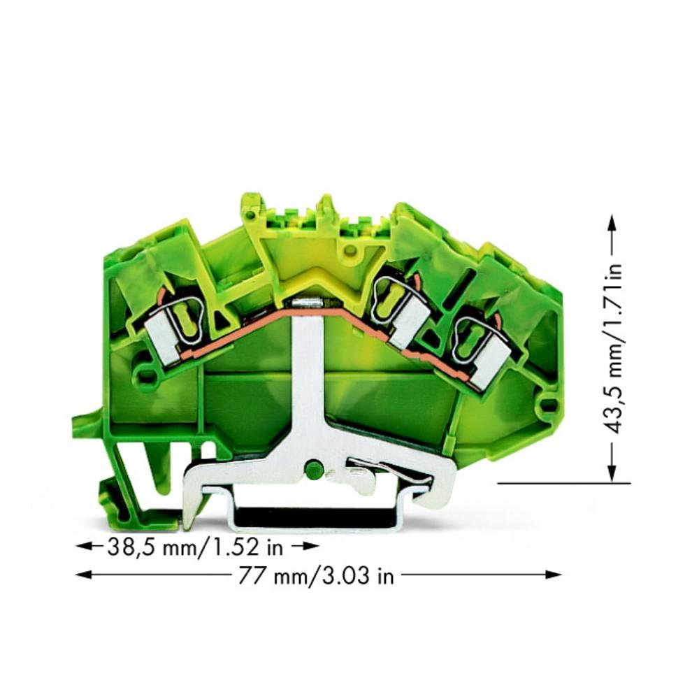 Jordklemme 5 mm Trækfjeder Belægning: Terre Grøn-gul WAGO 780-637 50 stk