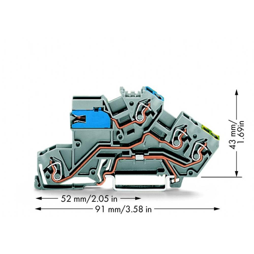 installations-etageklemme 5 mm Trækfjeder Belægning: NT, L, Terre Grå WAGO 775-641 50 stk