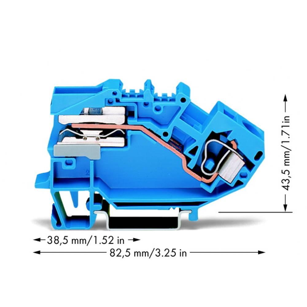 Skilleklemme 10 mm Trækfjeder Belægning: N Blå WAGO 784-613 25 stk
