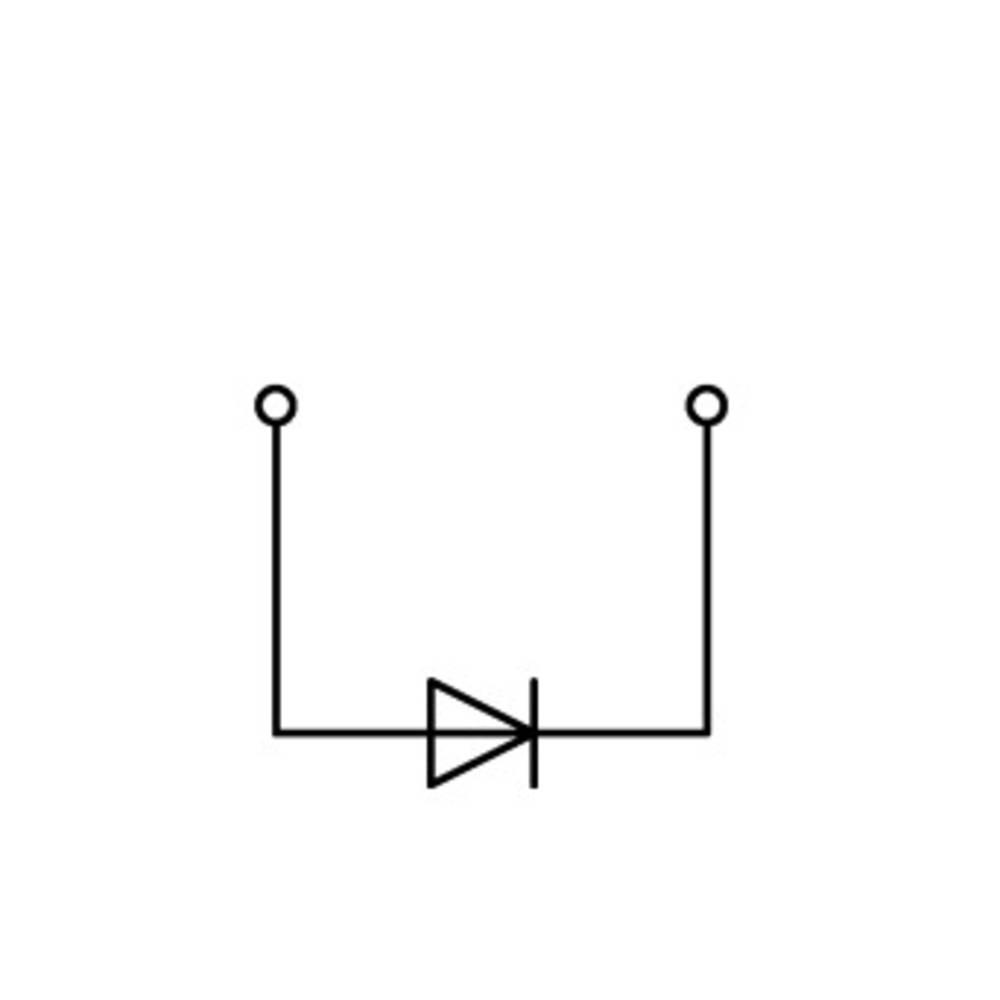 Diodeklemme 5 mm Trækfjeder Belægning: L Grå WAGO 769-238/281-410 100 stk