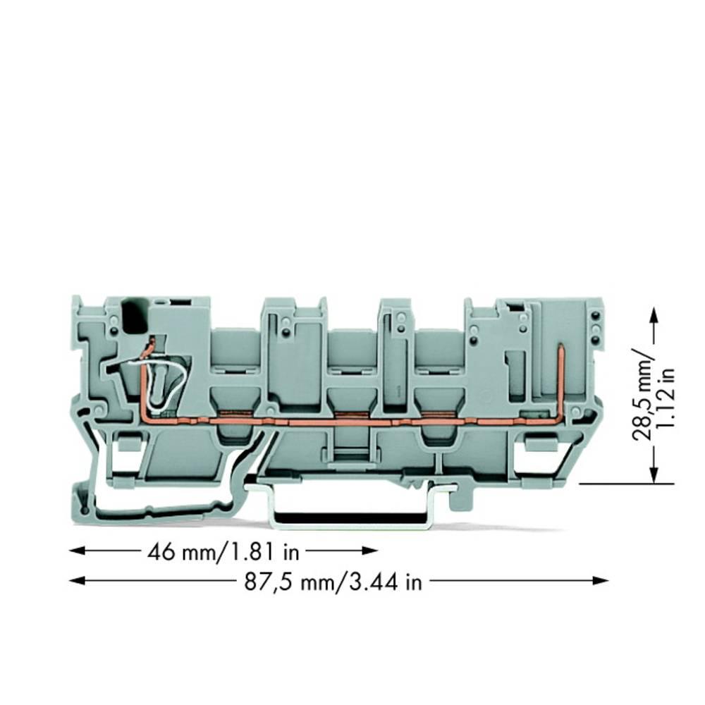 Basisklemme 5 mm Trækfjeder Belægning: L Grå WAGO 769-214 50 stk