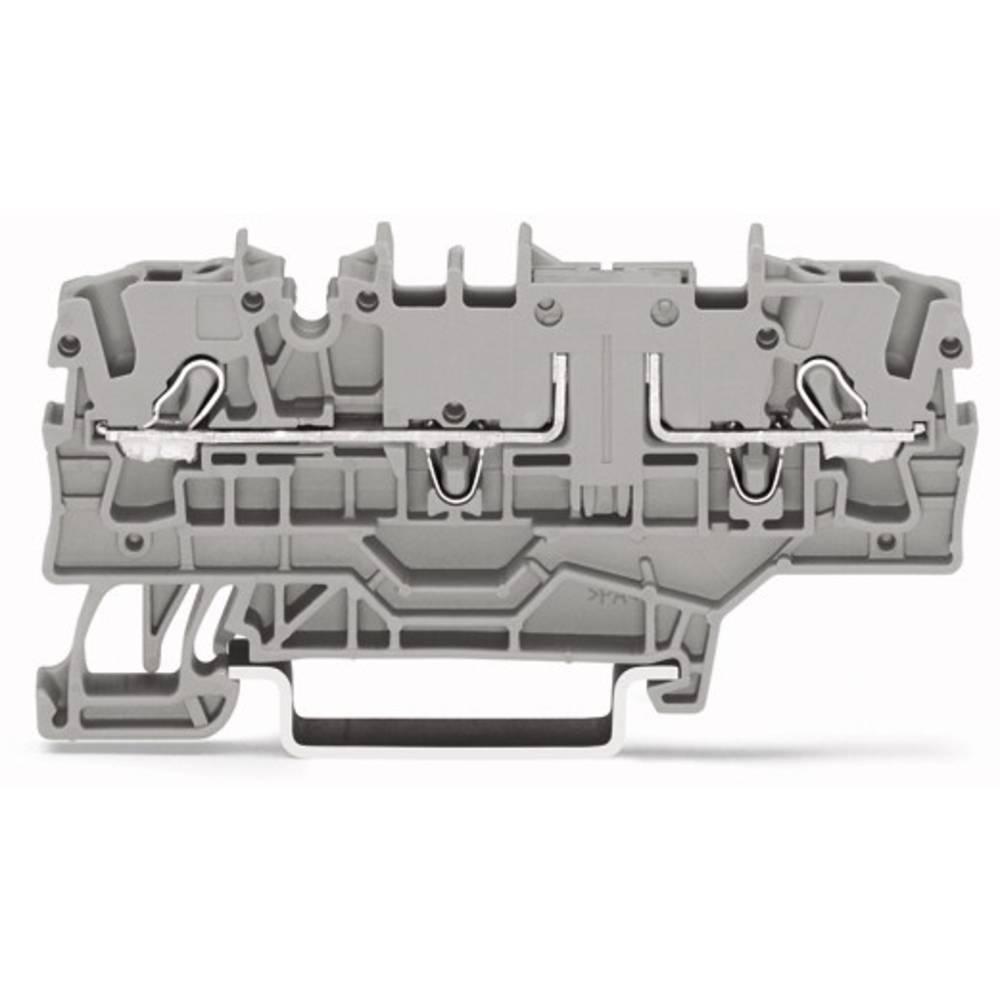 Gennemgangsklemme 5.20 mm Trækfjeder Belægning: N Blå WAGO 2002-1904 50 stk