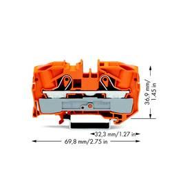 Gennemgangsklemme 12 mm Trækfjeder Orange WAGO 2016-1202 20 stk