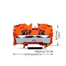 Gennemgangsklemme 10 mm Trækfjeder Orange WAGO 2010-1202 25 stk