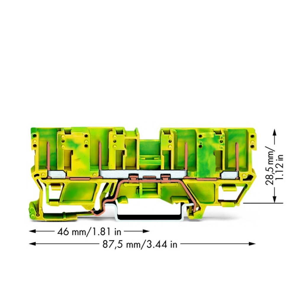 Jordklemme 5 mm Indstiks-klemme Belægning: Terre Grøn-gul WAGO 769-207 50 stk