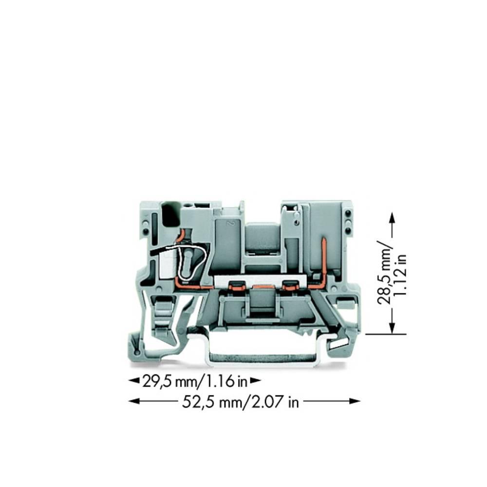 Basisklemme 5 mm Trækfjeder Belægning: L Grå WAGO 769-176 100 stk