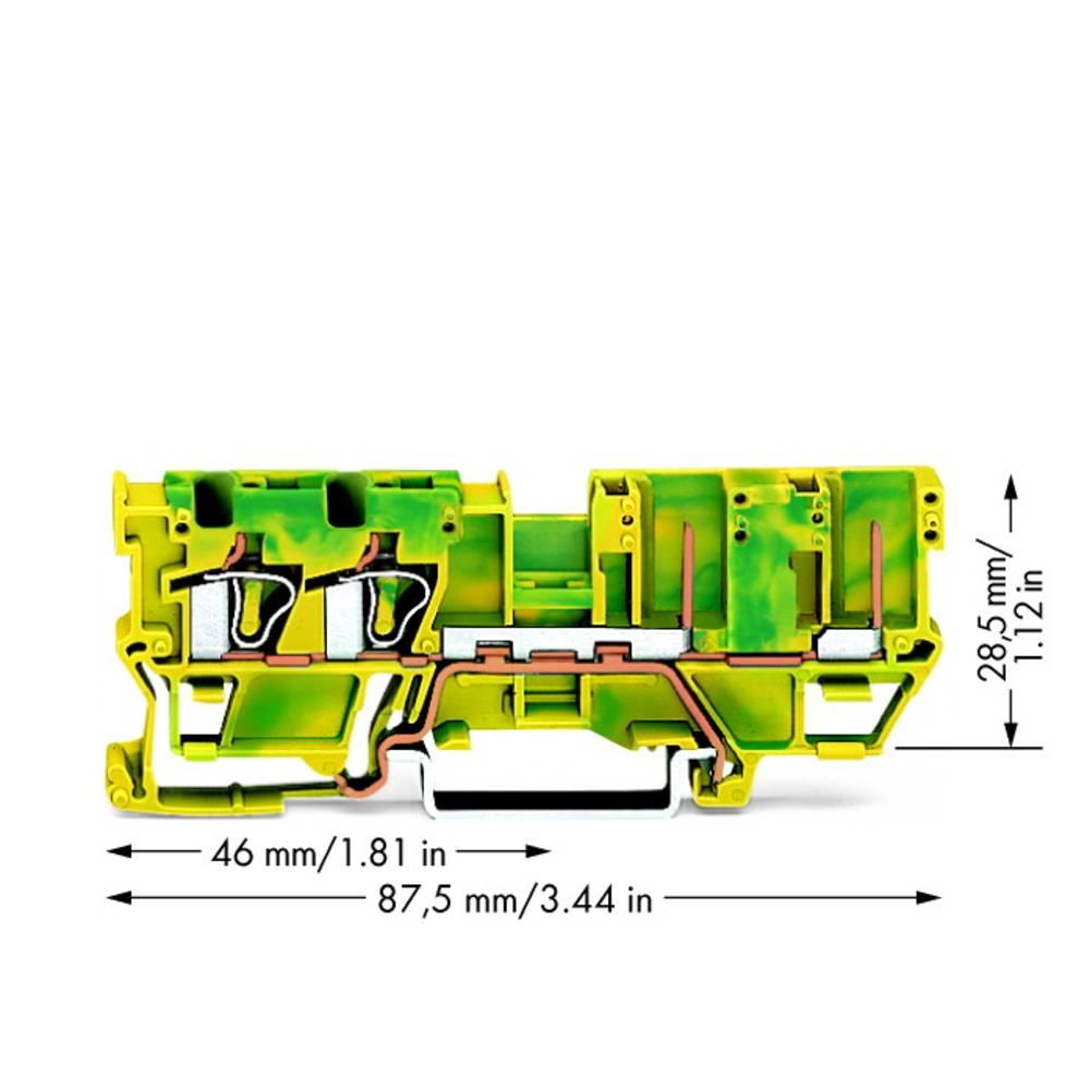 Basisklemme 5 mm Trækfjeder Belægning: Terre Grøn-gul WAGO 769-217 50 stk