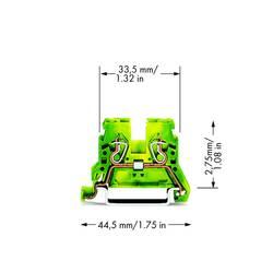 Jordklemme 5 mm Trækfjeder Belægning: Terre Grøn-gul WAGO 870-907/999-950 100 stk