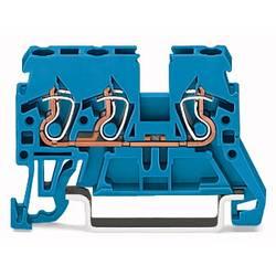 Gennemgangsklemme 5 mm Trækfjeder Belægning: N Blå WAGO 870-684 100 stk