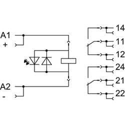 Relejni modul 8 komada WAGO 858-327 Nazivni napon: 110 V/DC struja prebacivanja (maks.): 12 A 2 izmjenjivača