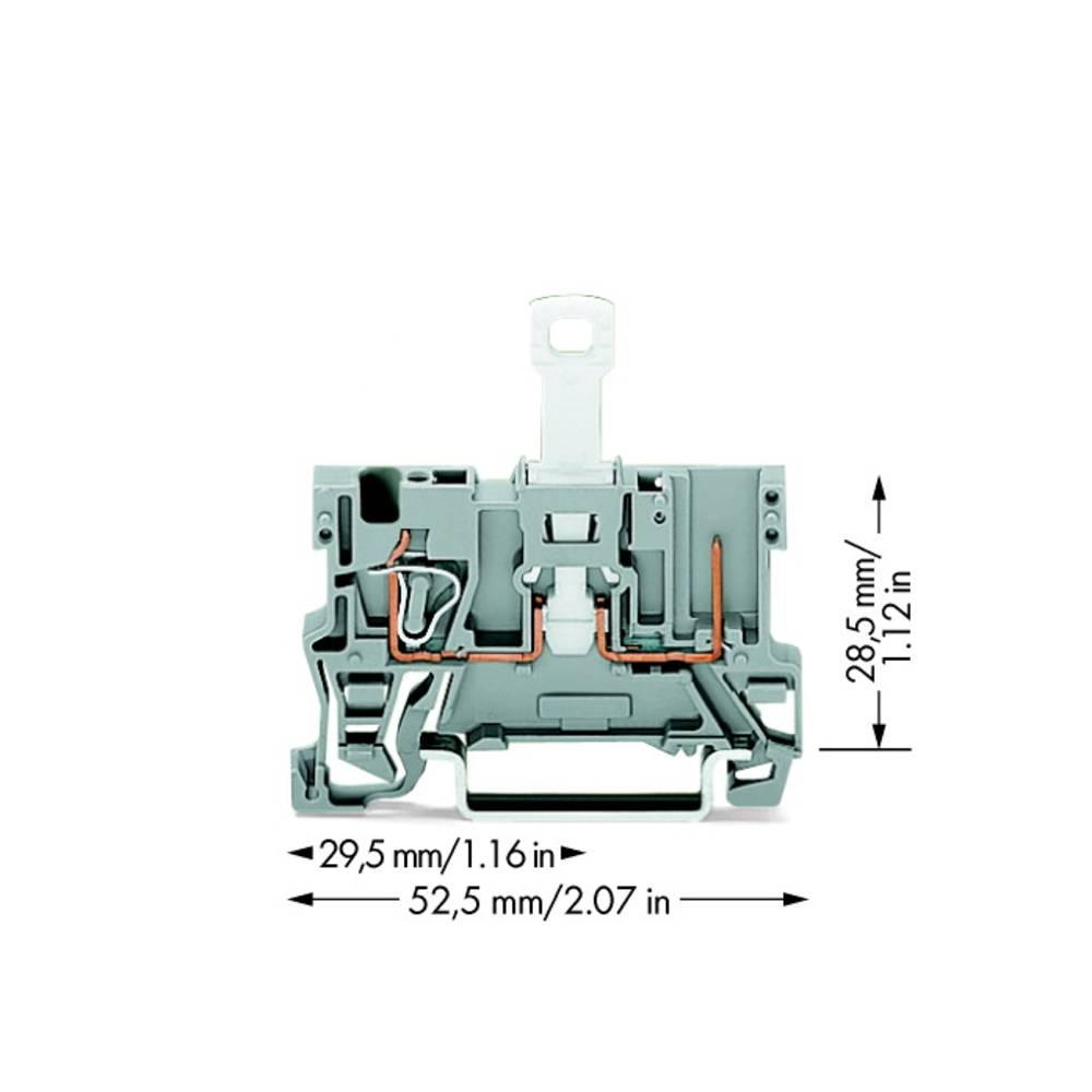 Basisklemme 5 mm Trækfjeder Belægning: L Grå WAGO 769-232 50 stk