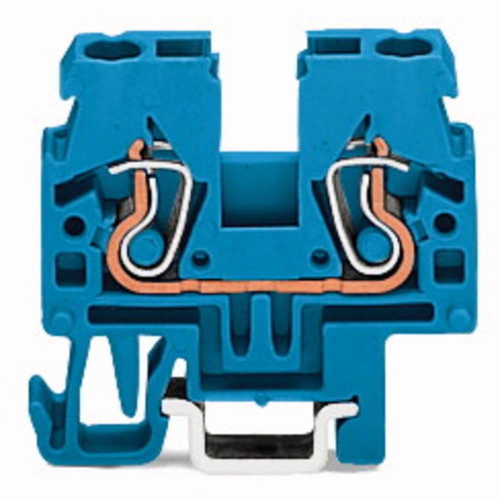 Gennemgangsklemme 5 mm Trækfjeder Belægning: N Blå WAGO 870-914 100 stk