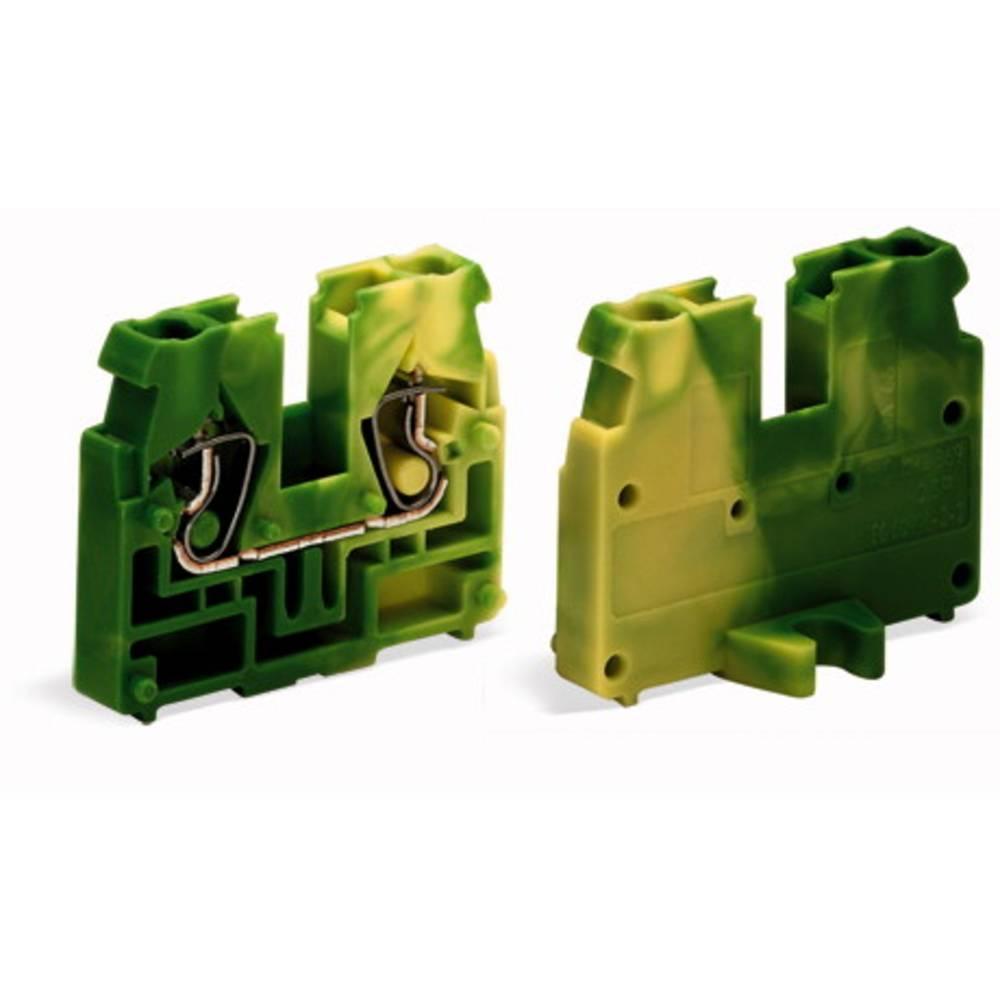 Gennemgangsklemme Fjederklemme Grøn-gul WAGO 869-357 100 stk