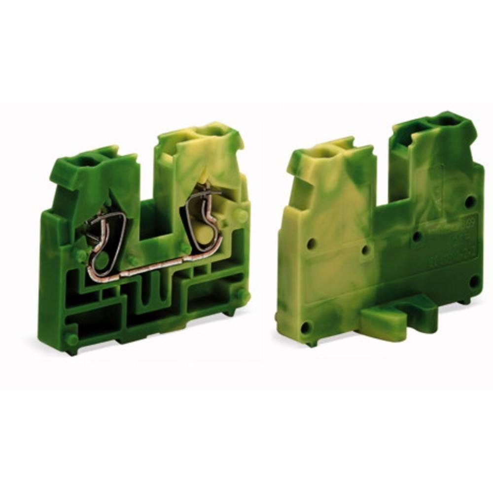 Gennemgangsklemme Fjederklemme Grøn-gul WAGO 869-307 100 stk