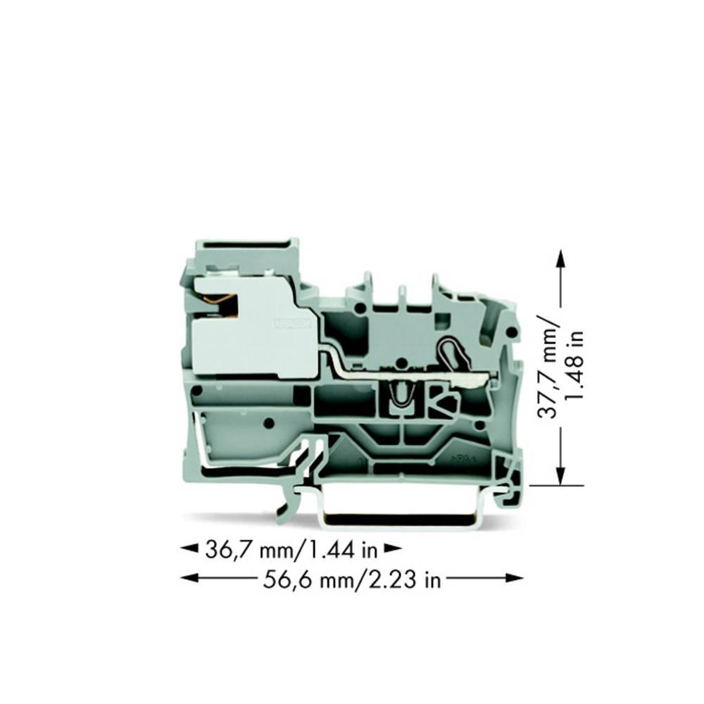 Potentialklemme 5.20 mm Trækfjeder Grå WAGO 2002-7111 50 stk