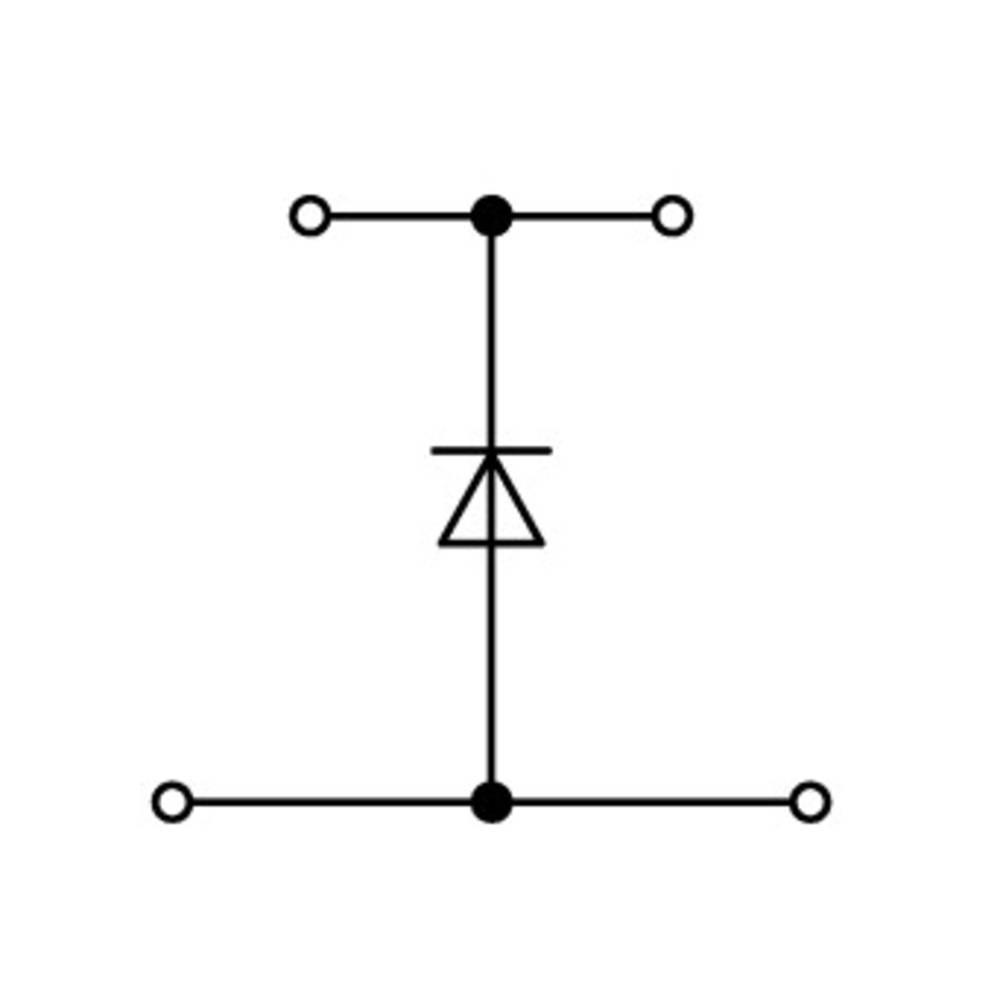 Dobbeltlags diodeklemme 5 mm Trækfjeder Belægning: L Grå WAGO 870-540/281-410 50 stk