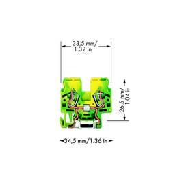 Jordklemme 5 mm Trækfjeder Belægning: Terre Grøn-gul WAGO 870-917 100 stk