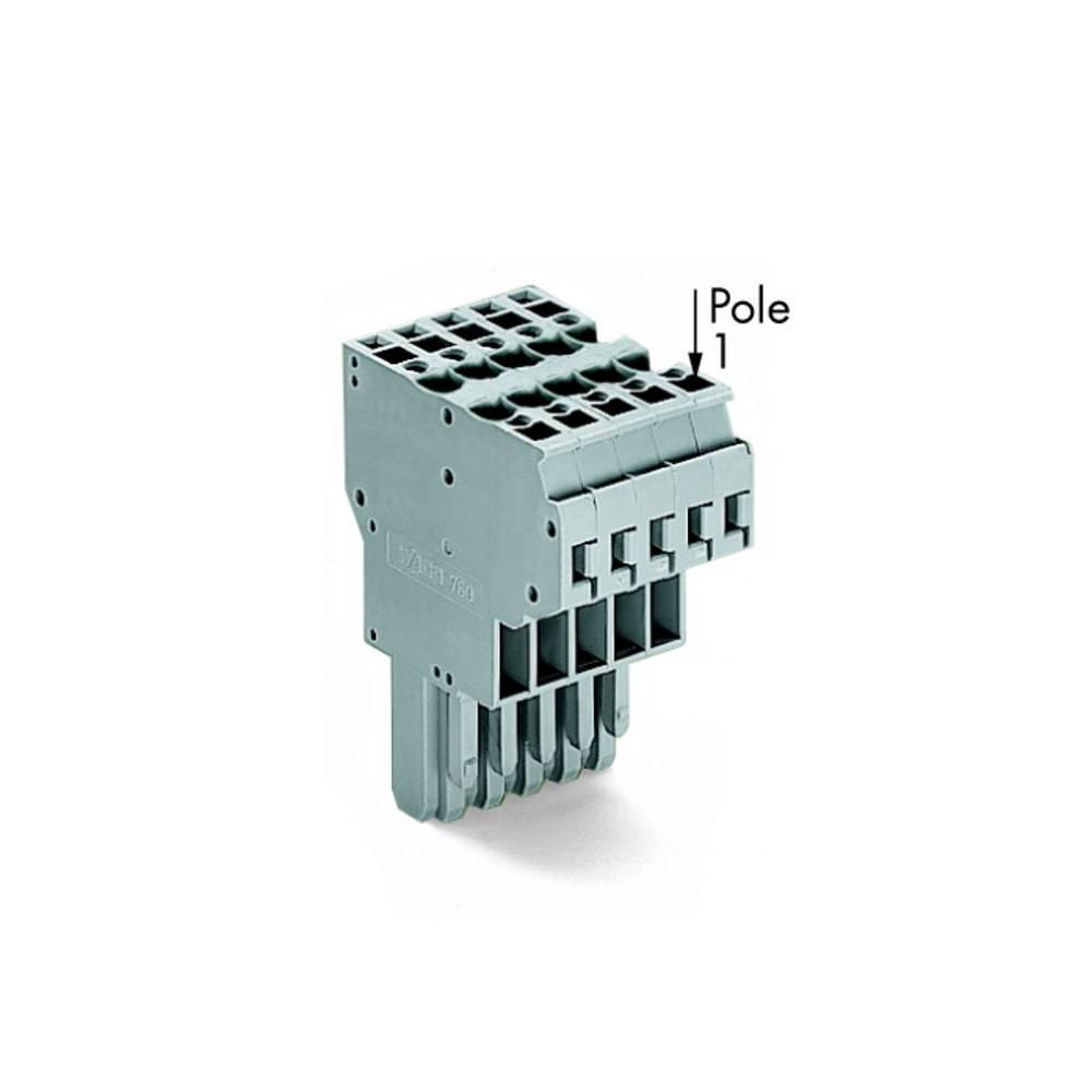 Multistikfatning 5 mm Trækfjeder Belægning: L Grå WAGO 769-125 20 stk