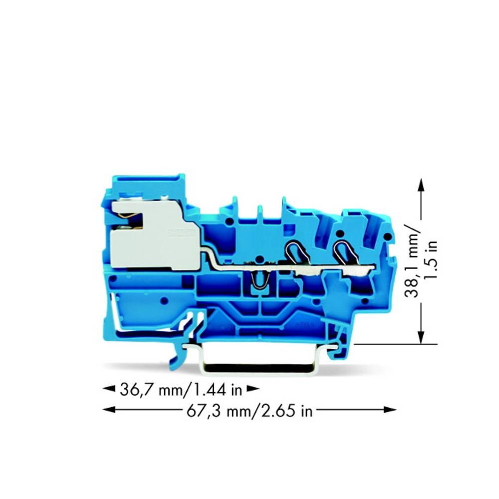 Skilleklemme 5.20 mm Trækfjeder Belægning: N Blå WAGO 2002-7214 50 stk