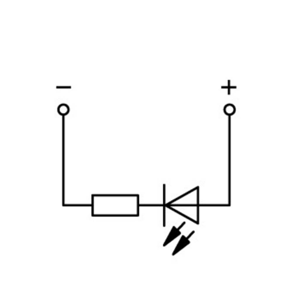 Basisklemme 5 mm Trækfjeder Belægning: L Grå WAGO 769-239/281-413 100 stk
