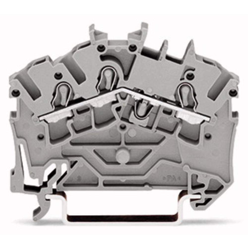 Gennemgangsklemme 5.20 mm Trækfjeder Sort WAGO 2002-6305 50 stk