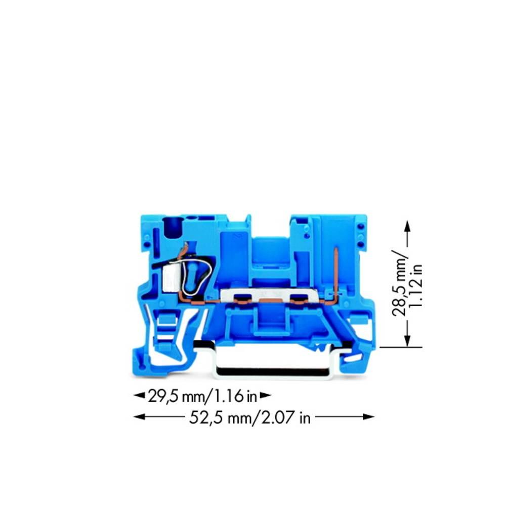 Basisklemme 5 mm Trækfjeder Belægning: N Blå WAGO 769-176/000-006 100 stk